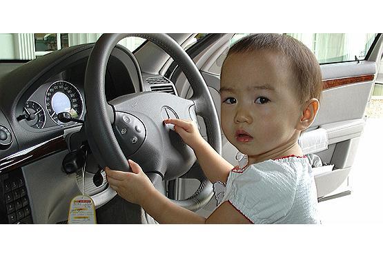 Mit Kindern im Auto unterwegs