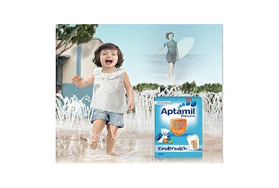 Werbung: Aptamil Kindermilch : Starkes Immunsystem für aktive Kleinkinder